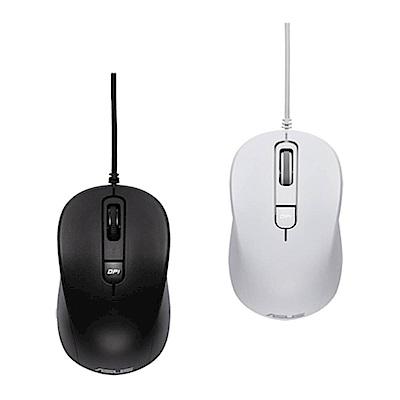 ASUS 華碩 藍光靜音有線滑鼠-(MU101C)
