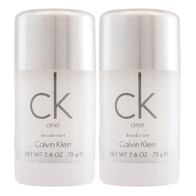 Calvin Klein CK one體香膏75gx2