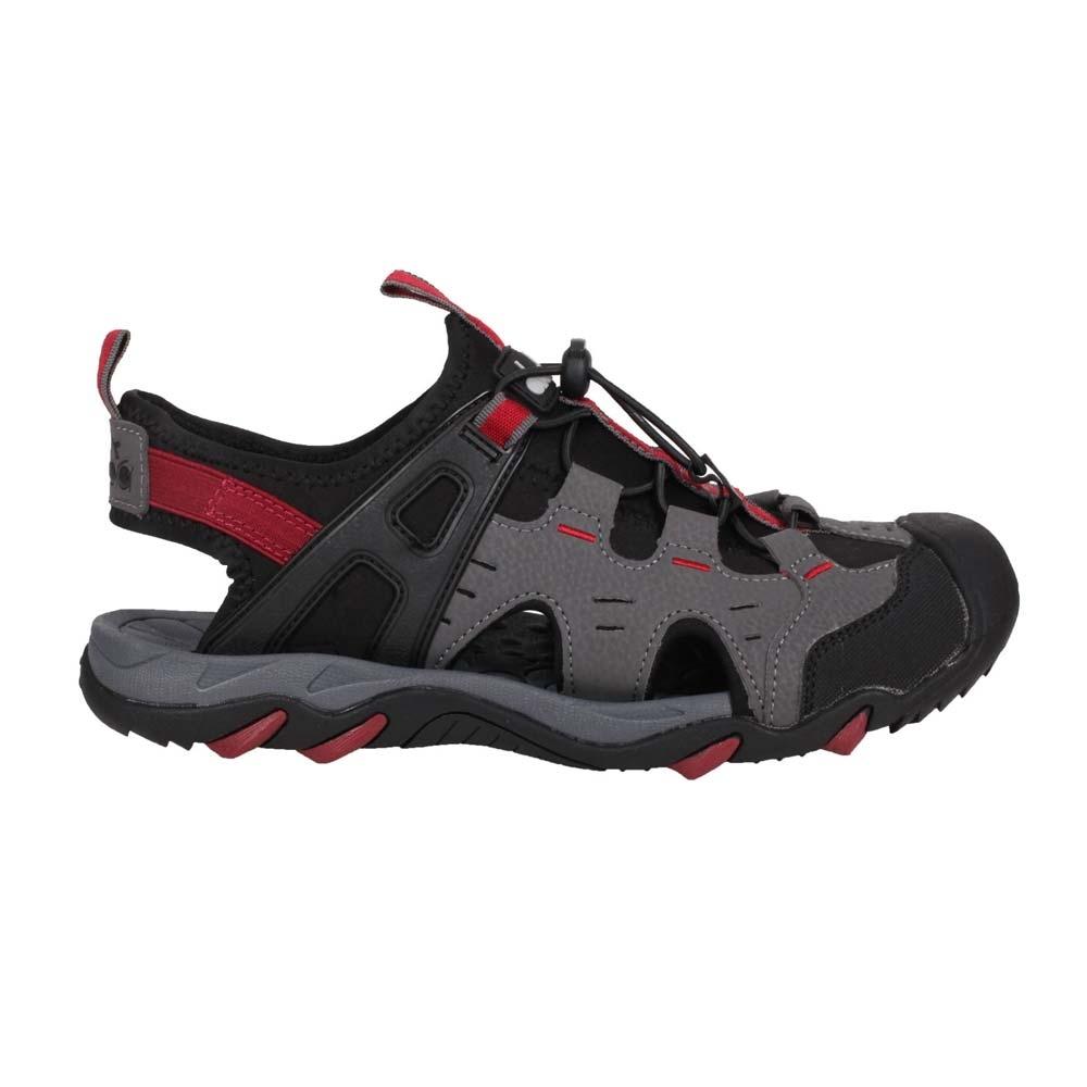 DIADORA 男護趾運動涼鞋-健走鞋 水陸鞋 懶人鞋 DA71201 灰黑紅