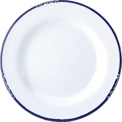 《Utopia》復古石陶餐盤(藍20cm)