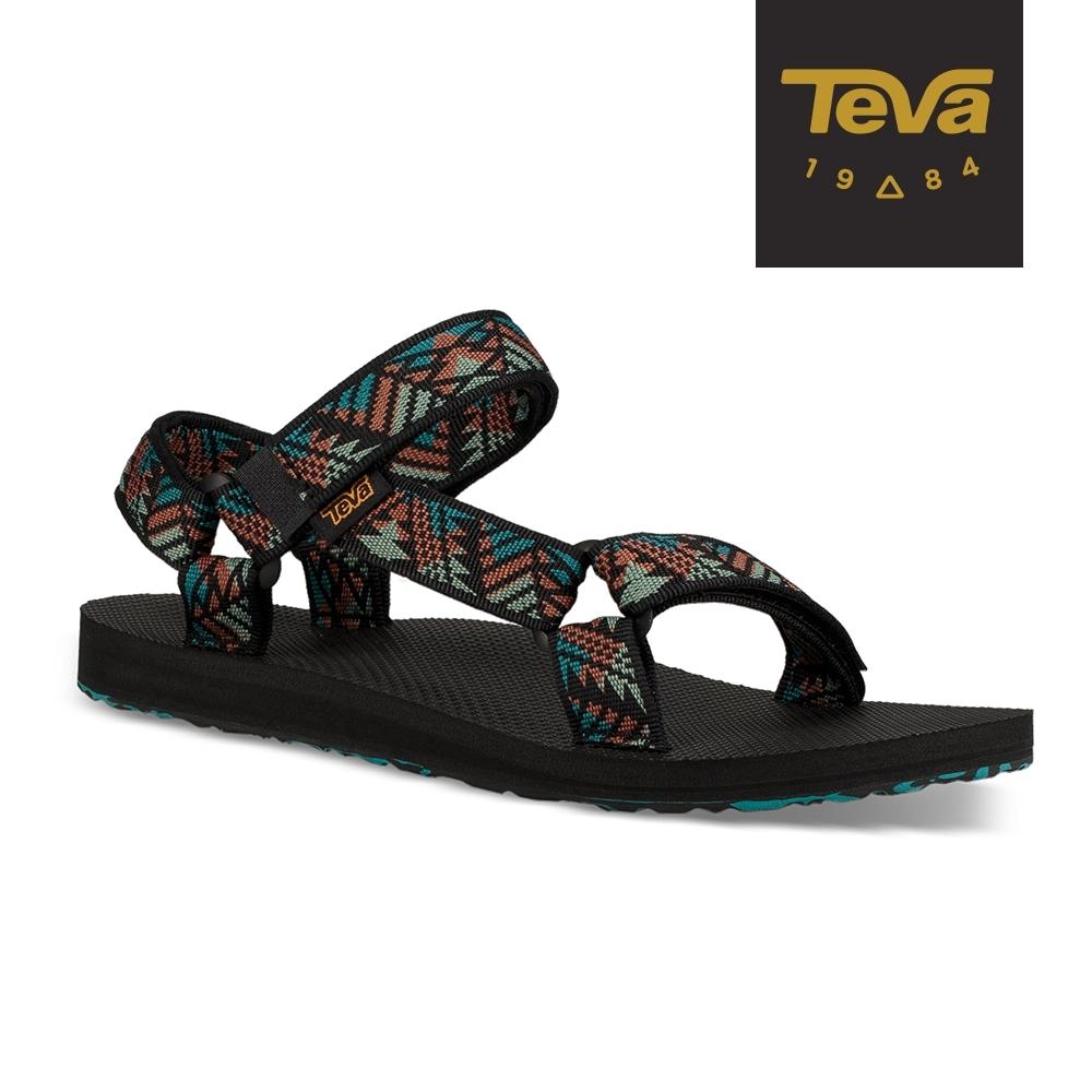 TEVA 女 Original Canyon 經典織帶涼鞋 美國大峽谷款-湖水藍