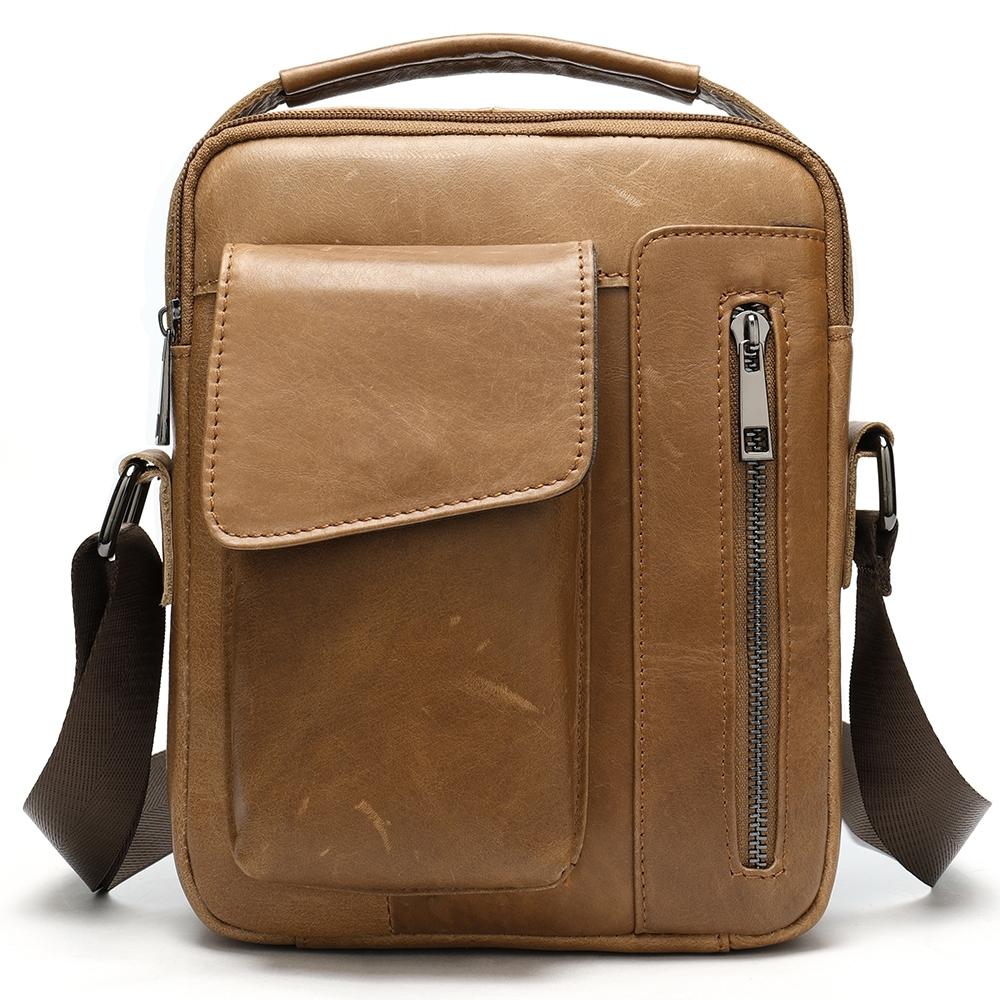 A CLASSIC 男包 男士歐美休閒有型真皮手提包(包包)