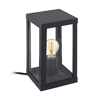 EGLO歐風燈飾 復古黑玻璃燈框式壁燈(不含燈泡)
