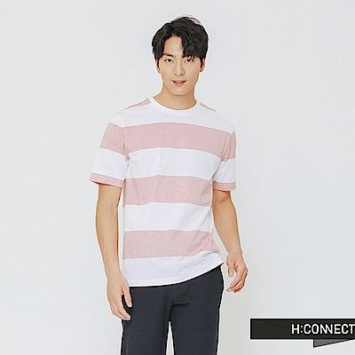 H:CONNECT 韓國品牌 男裝-清新配色條紋上衣-粉