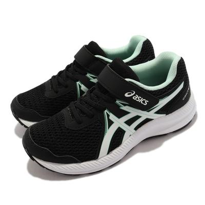 Asics 慢跑鞋 Contend 7 PS 運動 童鞋 亞瑟士 路跑 緩震 輕量 透氣 中童 黑 綠 1014A194009