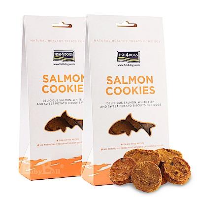 海洋之星FISH4DOGS 全天然健康點心 鮭魚餅乾75gX2入