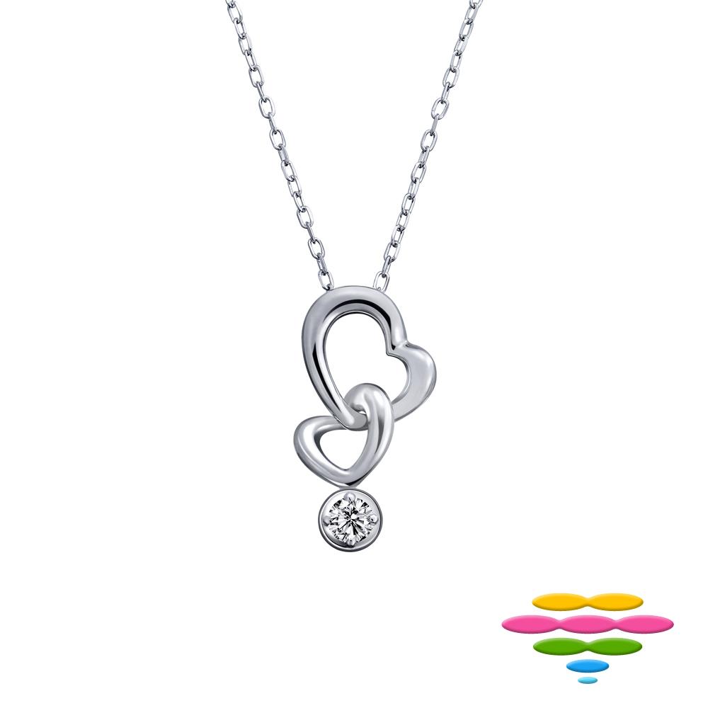 彩糖鑽工坊 愛心&雙心 鑽石項鍊 小確幸系列 (日本10K輕珠寶)