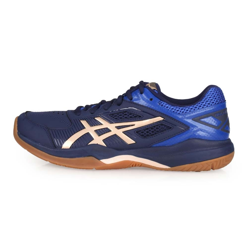 ASICS 男 羽球鞋 GEL-COURT HUNTER 丈青香檳金