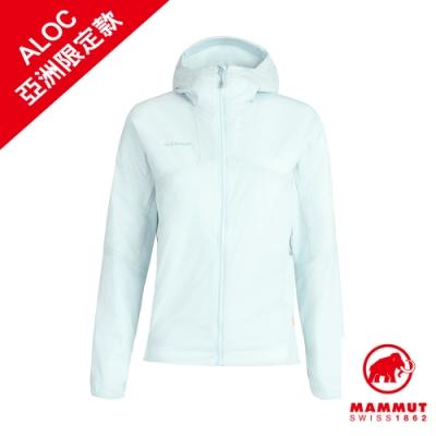【Mammut 長毛象】Rime Light IN Flex Hooded Jacket AF 保暖連帽化纖外套 白謠曲 女款 #1013-01310