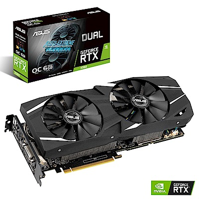 華碩 ASUS DUAL GeForce RTX™ 2060 O6G GAMING 顯示卡
