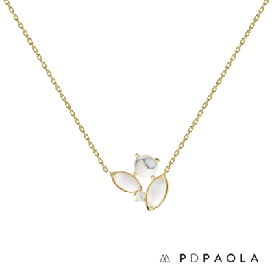 PD PAOLA 西班牙輕奢時尚品牌 白紋大理石項鍊