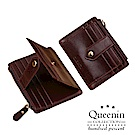 DF Queenin皮夾 -韓版簡約時尚拉鍊多卡位零錢包名片夾-共3色
