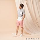 GIORDANO 男裝素色修身百慕達短褲-30 粉紅色