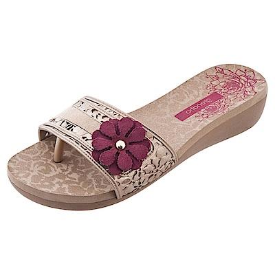 GRENDHA 南美花朵超軟中底鞋-米