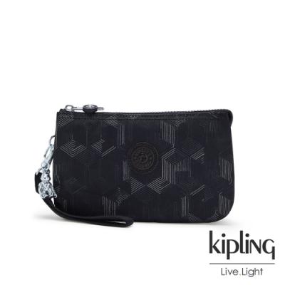 Kipling 幾何圖騰黑多層配件包-CREATIVITY XL