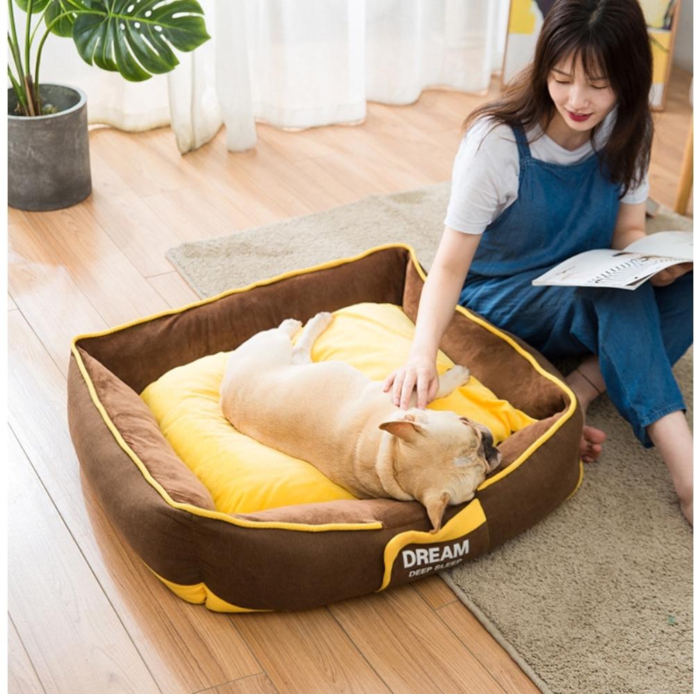寵愛有家-四季通用可拆洗小型大型犬愛窩睡墊-M(寵物窩)