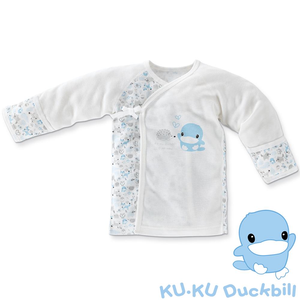 KU.KU酷咕鴨-竹纖有機棉反袖肚衣-03/06/1A(藍/粉)-2769