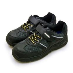 GOODYEAR 固特異透氣鋼頭防護認證安全工作鞋 鋼構系列 黑灰黃 83960