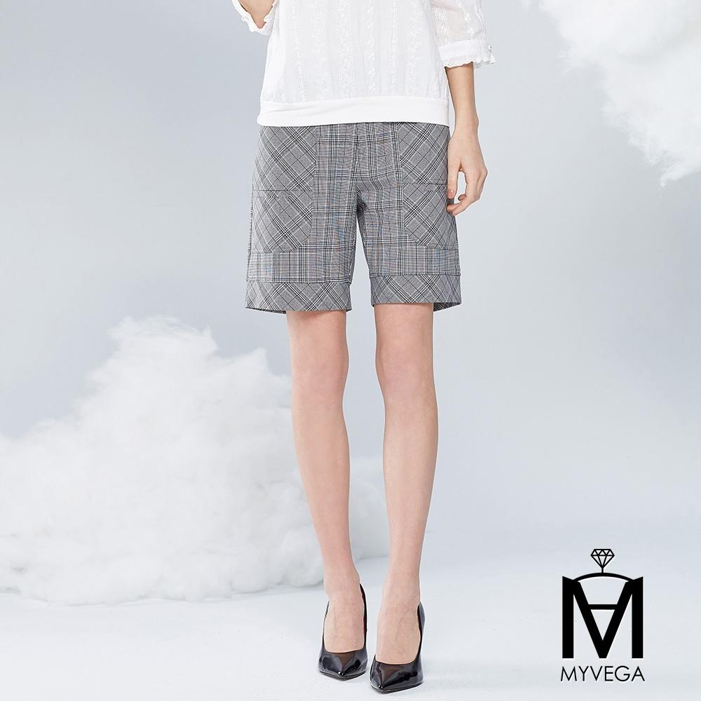 麥雪爾 MA英倫風大口袋短褲-灰