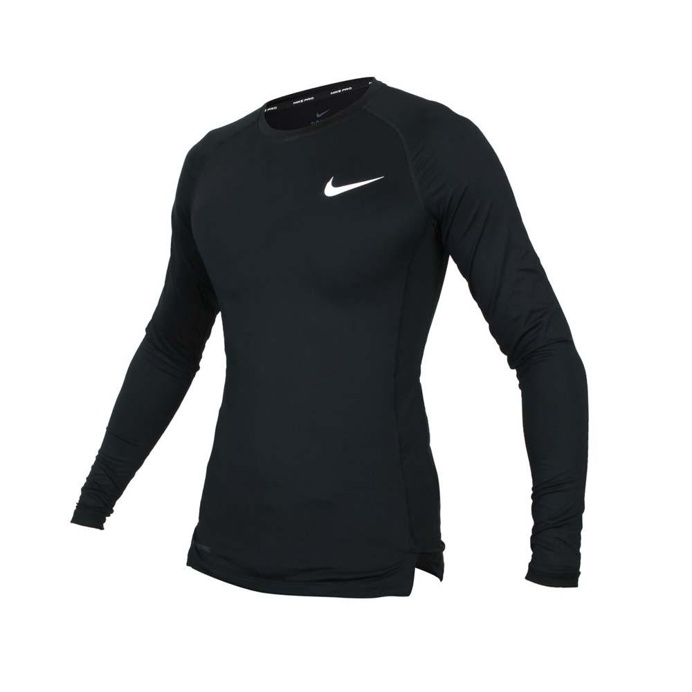 NIKE 男長袖緊身T恤-DRI-FIT 運動 健身 慢跑 上衣 緊身衣 BV5589-010 黑白