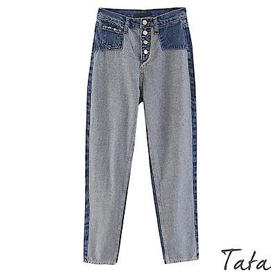 拼接牛仔褲 TATA