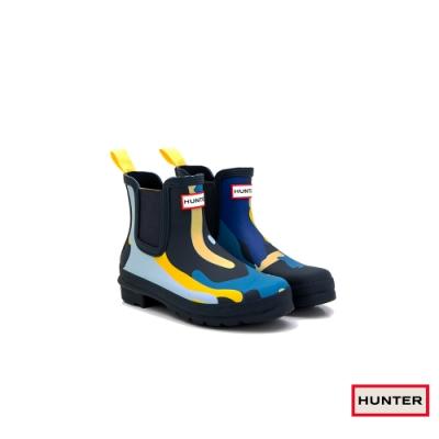 HUNTER - 女鞋 - Original印花霧面切爾西踝靴