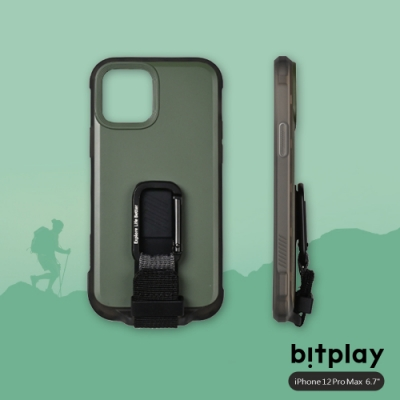 bitplay Wander Case iPhone 12 Pro Max (6.7吋)專用 獨創支架扣環掛繩軍規防摔立扣殼▲綠