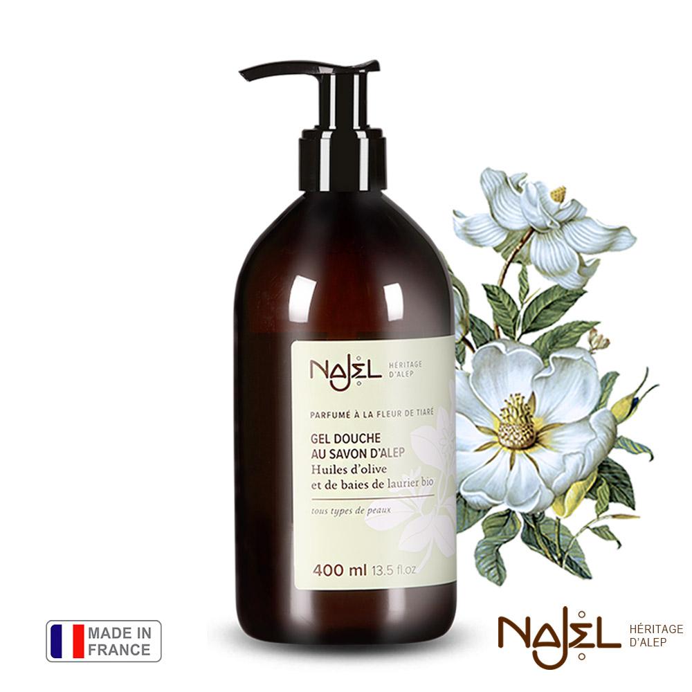 法國Najel梔子花阿勒坡古皂沐浴露400ml
