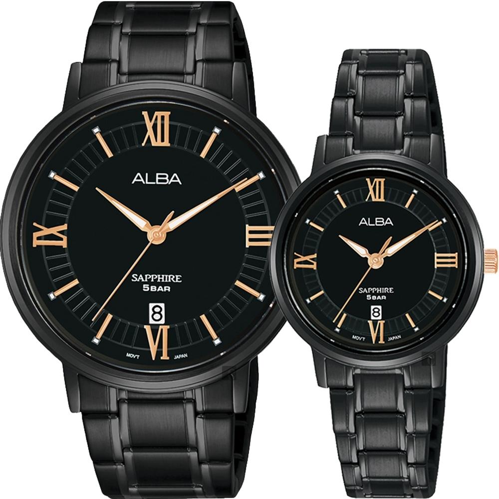 ALBA 雅柏 簡約設計情侶手錶 對錶  VJ42-X304SD+VJ22-X324SD(AS9L19X1+AH7V57X1)