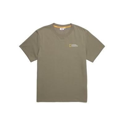 NATIONAL GEOGRAPHIC TYRANO SQUARE ARTWORK男女短袖T恤GREEN TEE系列- 化石圖案-苔原灰-N212UTS100054