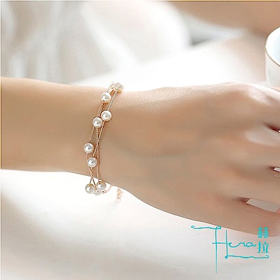 【Hera 赫拉】韓版時尚 珍珠手鍊 甜美清新 簡約飾品 手鍊 裝飾品
