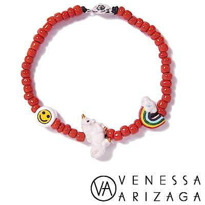 Venessa Arizaga Unicorn Smile 笑臉彩虹獨角獸手鍊 紅色手鍊