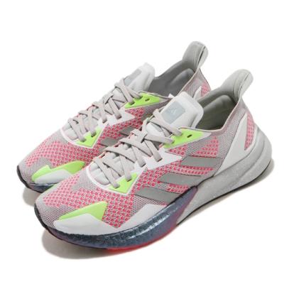 adidas 慢跑鞋 X9000L3 運動休閒 女鞋 愛迪達 路跑 緩震 反光 球鞋穿搭 灰 紅 EG5164