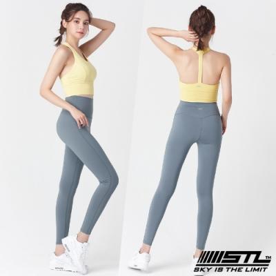 STL Yoga Leggings Free Line 9 韓國瑜珈『無尷尬線』 高腰壓腹 訓練拉提緊身褲 自由曲線 霧霾藍 重訓/路跑/登山/瑜珈