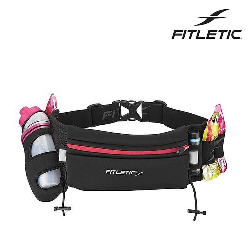 【Fitletic】Fully Loaded Neoprene單水壺腰包 HD12G / 黑粉