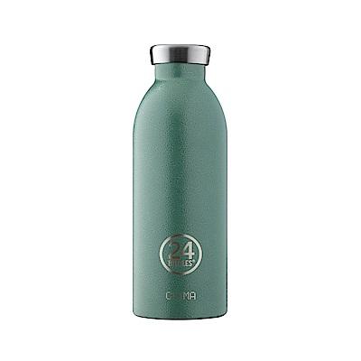 義大利 24Bottles不鏽鋼雙層保溫瓶500ml-祖母綠