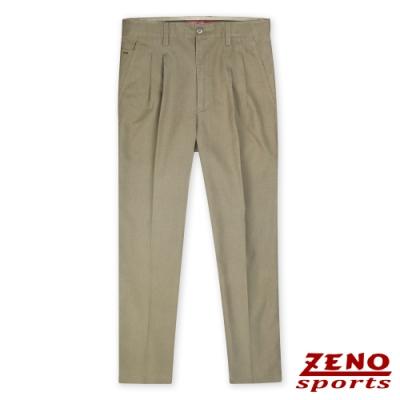 ZENO 立挺微彈質感修身款長褲‧暗卡其