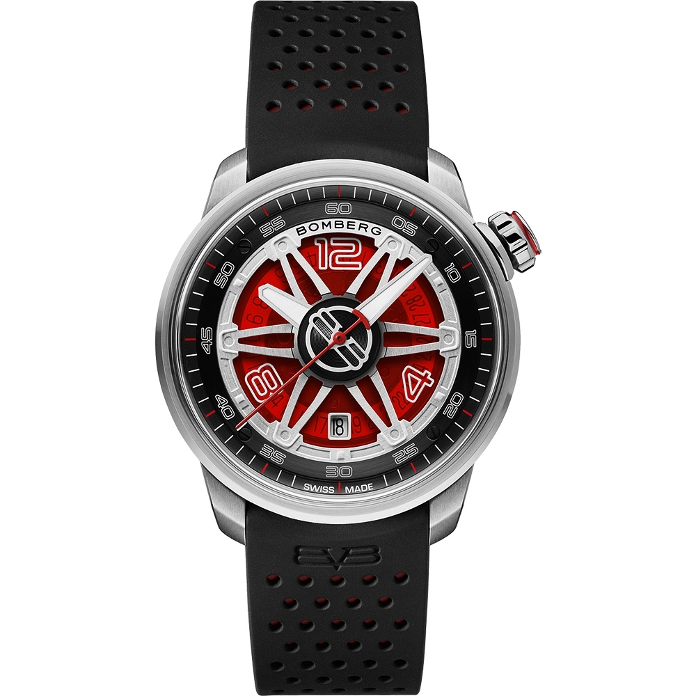 BOMBERG 炸彈錶 BB-01 軍風野戰六角機械錶-紅x43mm