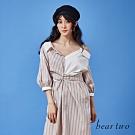 beartwo-剪接造型襯衫洋裝-白