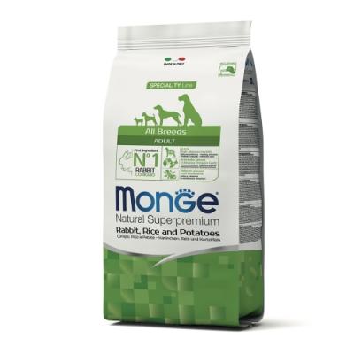 Monge瑪恩吉 天然呵護 成犬糧(兔肉+米+馬鈴薯)12kg