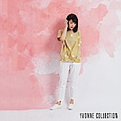 YVONNE 棉麻花卉連袖上衣-黃