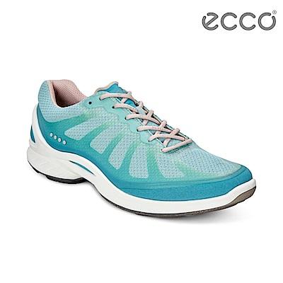 ECCO BIOM FJUEL W 繽紛亮色透氣健走運動鞋 女-冰藍色