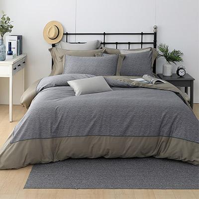 LASOL睡眠屋-300織設計款精梳棉 雙人兩用被床包四件組 流金歲月