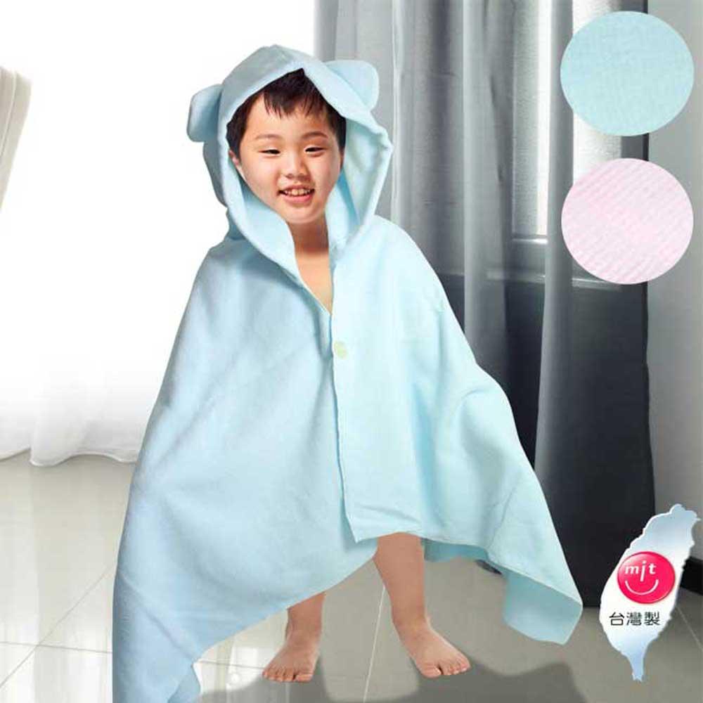 卡通超細纖維兒童罩袍/包巾(超值2入組)