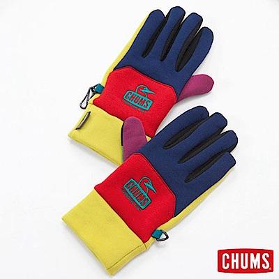 CHUMS 日本 可觸控螢幕 刷毛保暖手套 多彩
