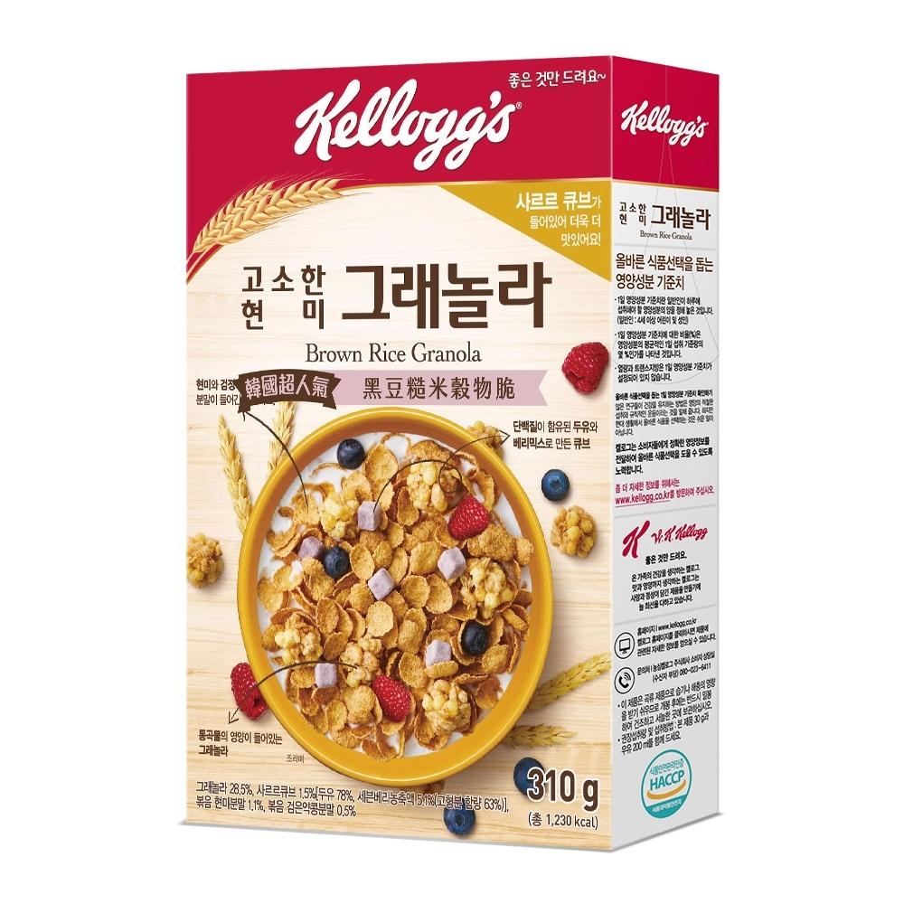 家樂氏  黑豆糙米穀物脆-莓果豆漿塊 310g