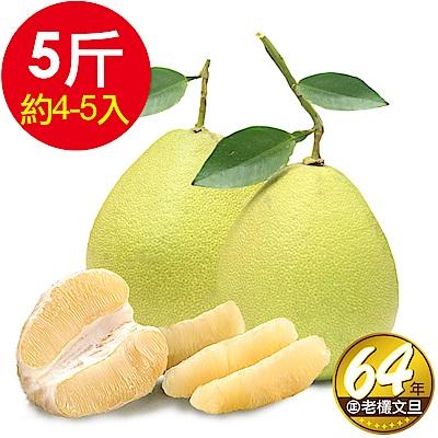 正 台南林家 64年在地老欉麻豆文旦1箱(5台斤/箱 4-5顆 )