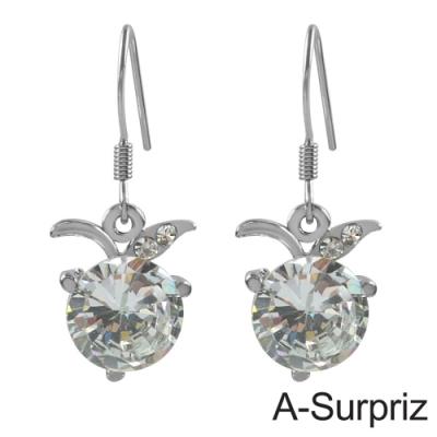 A-Surpriz 蘋果之戀鋯石耳環