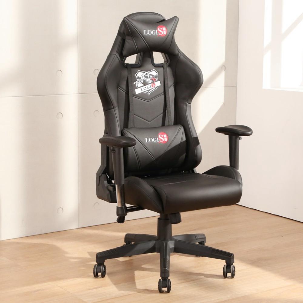 LOGIS 大將黑全皮面電競椅 電腦椅 主管椅 賽車椅 皮椅