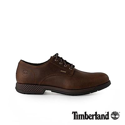 Timberland 男款黑色全粒面皮革休閒鞋   A1SNKD25